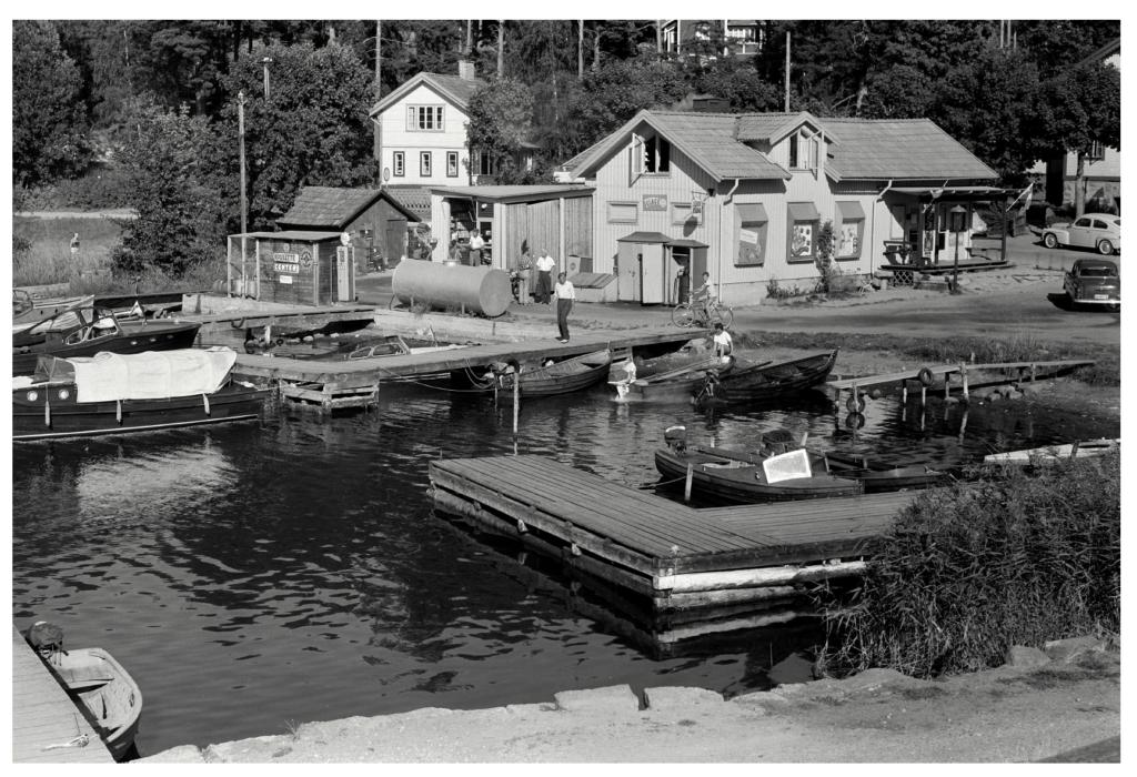 Stavsnäs, Handelsboden sommaren 1959 (foto Anders Lamrén)